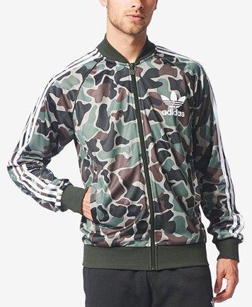 76b6f3996d adidas Originals Men s Camo-Print Superstar Track Jacket