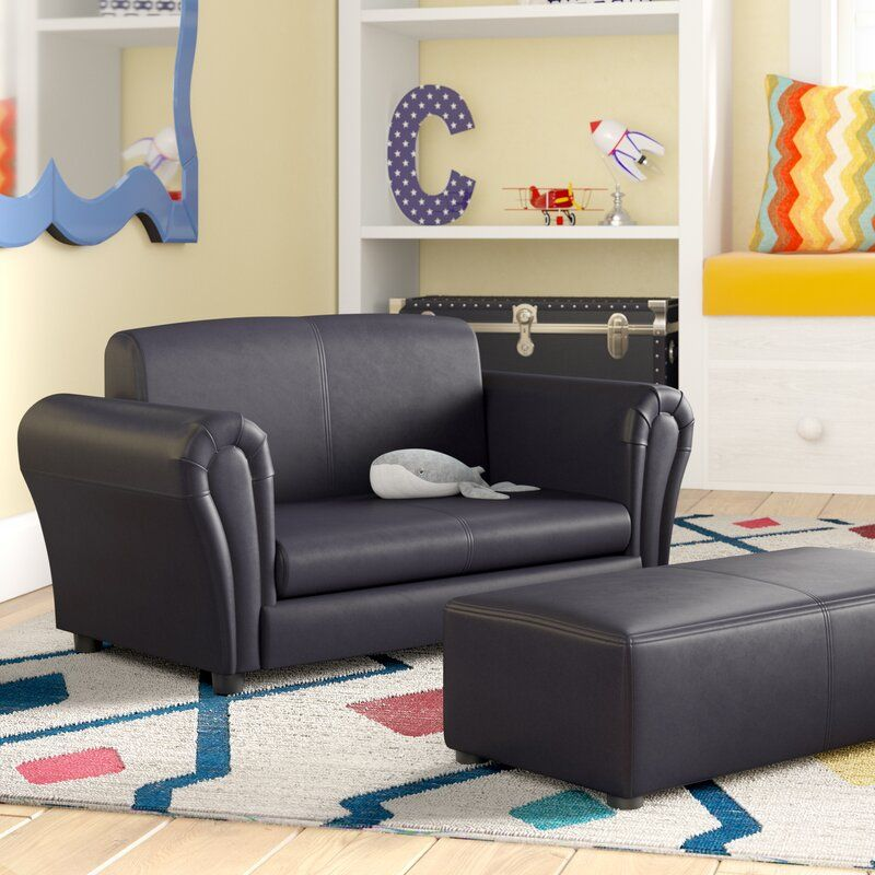 Lach Kids Chair And Ottoman In 2020 Kids Chaise Kids Chairs Kids Sofa