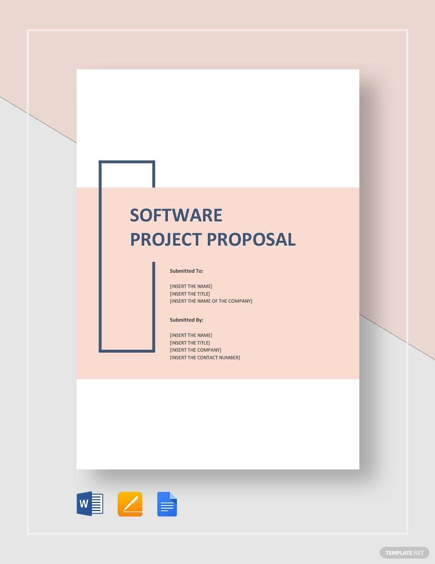 Software Project Proposal Template Word Doc Apple Mac Pages Google Docs Brosur Buku Desain Grafis