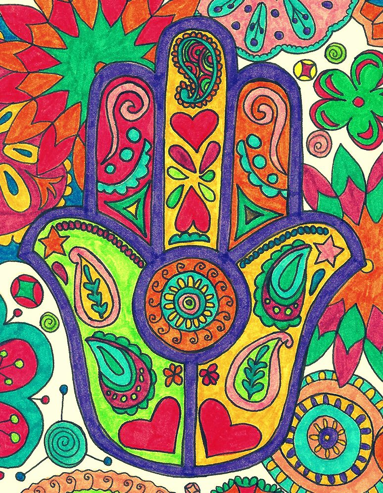 #art #colors #collage #picture #dibujos #hamsa