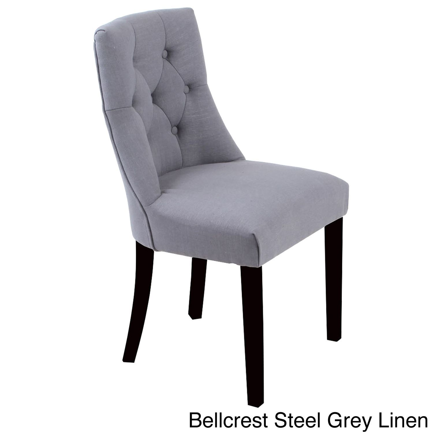 Bellcrest Buttontufted Upholstered Dining Chairs Set Of 2 Best Leather Dining Room Chairs With Arms Design Decoration