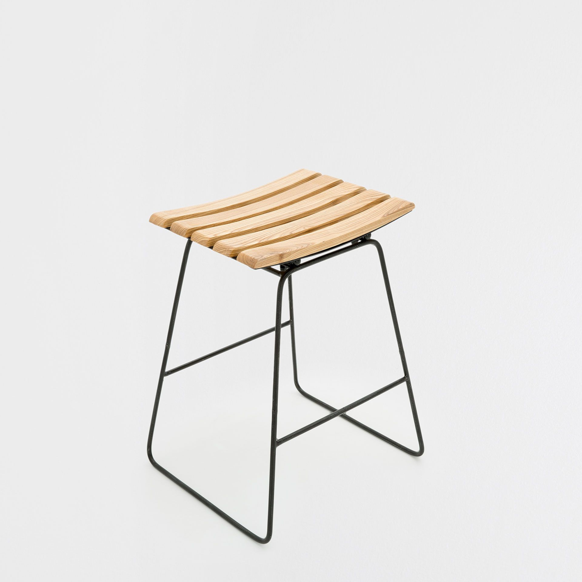 HIGH STOOL WITH A WOODEN SEAT - Occasional Furniture - Decoration ...