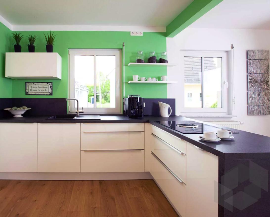 Grüne Küche | Inspiration von Haas Haus ➤ Auf der ___ Fertighaus.de ...