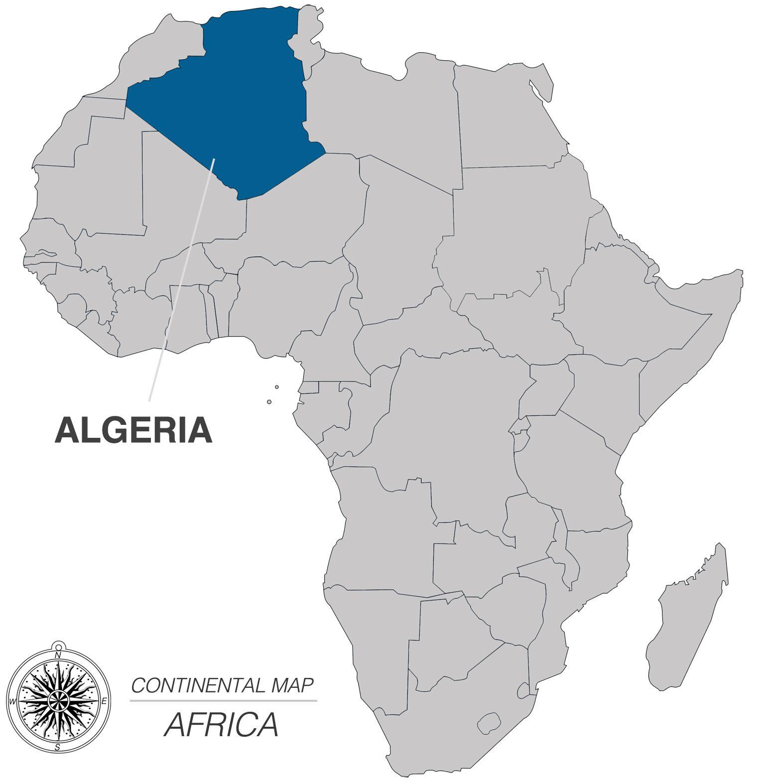 Map of Algeria Pop 333 Million Cap City Algiers Language