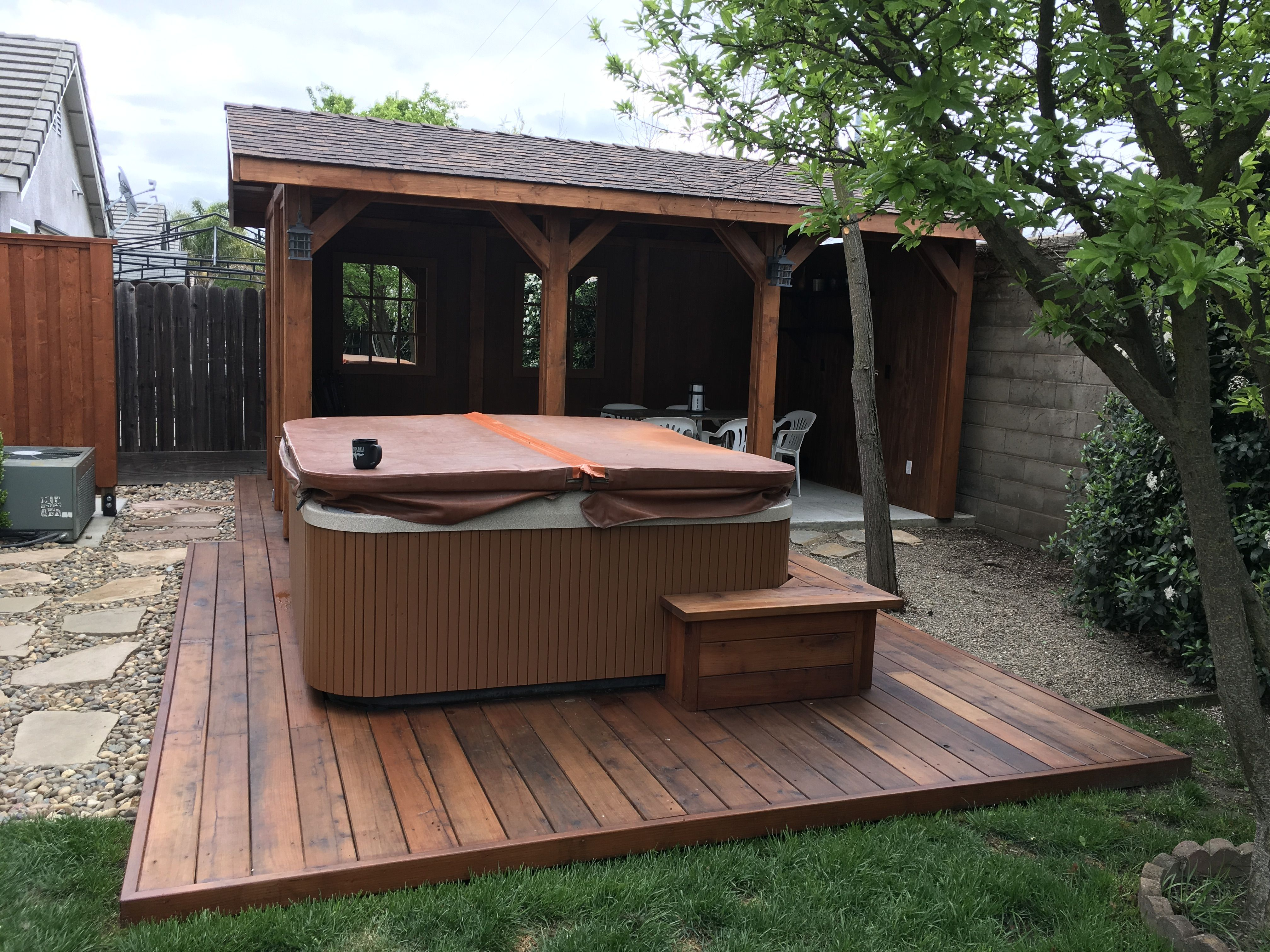 Indoor Deck Deck Spa Garden Patio Spa Garden Structure Ideas Pinterest Garden Structures Ideas Garden Patio