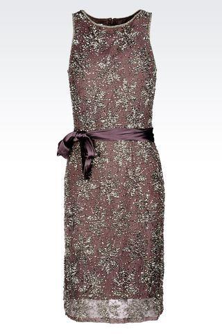 Armani Collezioni Women Long Dress - EMBROIDERED EVENING DRESS Armani Collezioni Official Online Store