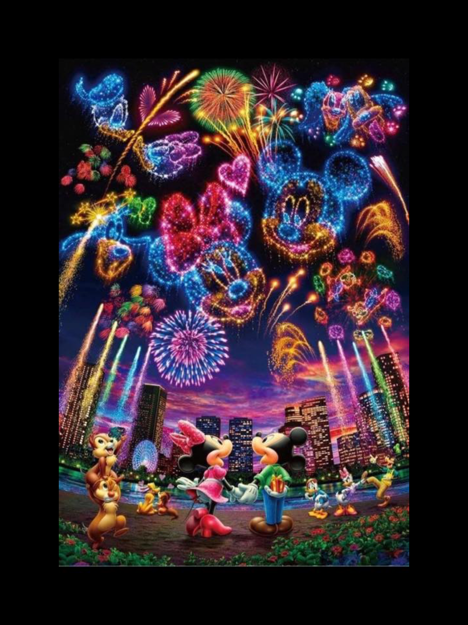 Disney New Year Wallpaper Iphone Disney Cross Paintings Mickey Mouse Wallpaper