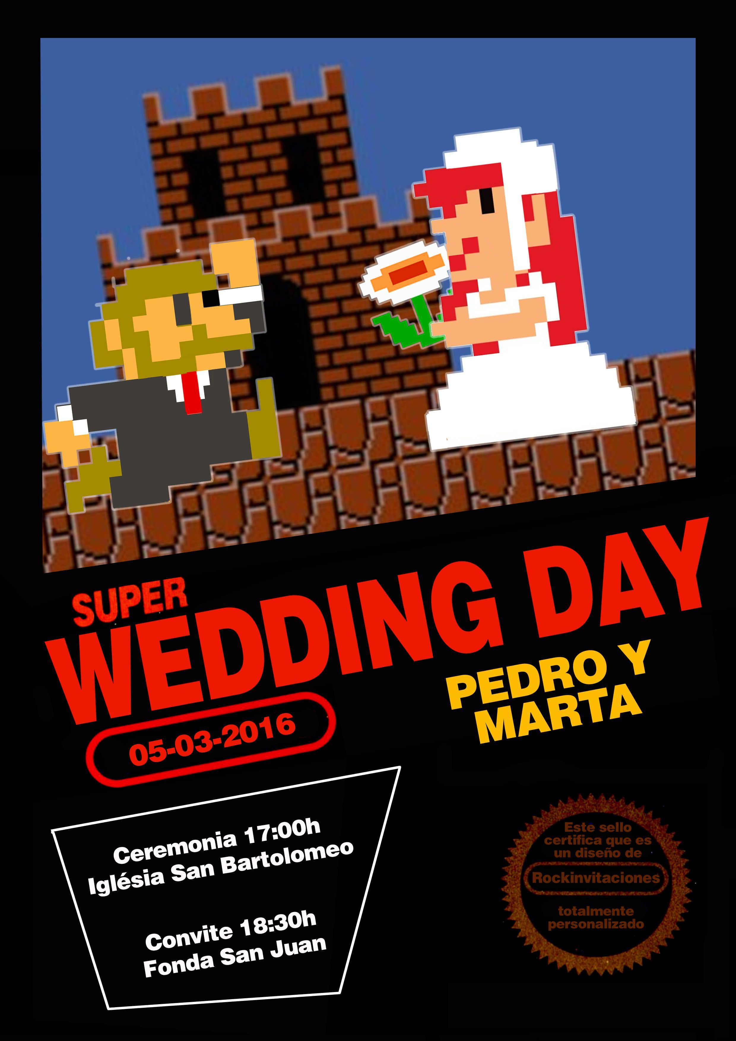 La boda más Geek comienza con estas invitaciones de videojuegos ...