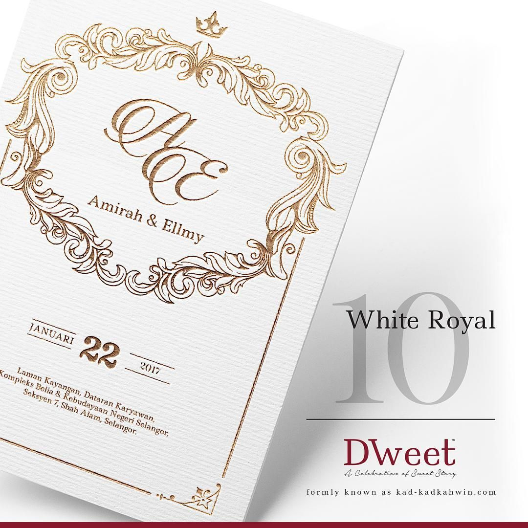 White Royal 10 New Collection White Royal Khas Untuk Mereka Yang Menyukai Design Simple Tetapi K Kad Kahwin Wedding Cards Invitations White