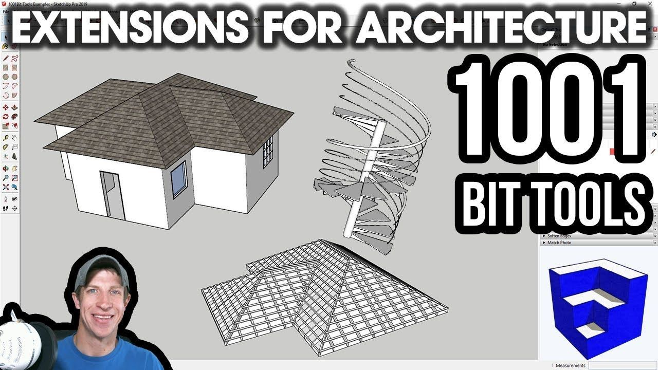 Sketchup Extensions For Architecture 1001bit Tools The Sketchup Essentials Architecture Sketchup Model Extensions