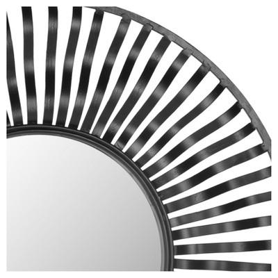 Round Swirl Decorative Wall Mirror - Safavieh, Black