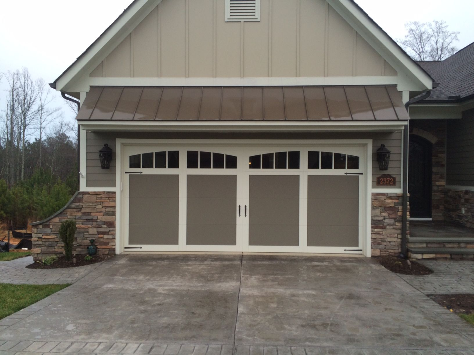 18x8 Model 5331a Double Steel Insulated Carriage Style Garage Door