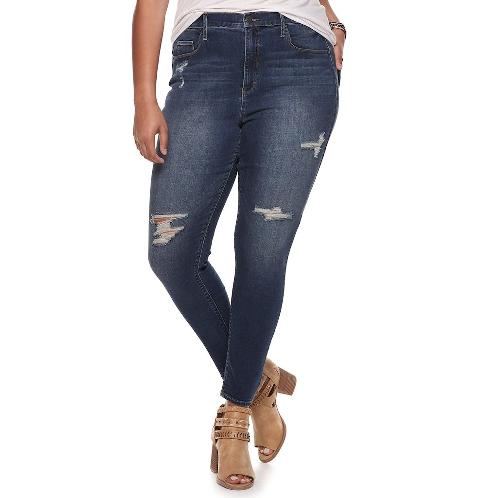 7612761275c15 Mudd Juniors' Plus Size High-Waisted Jeggings   Products   Junior ...