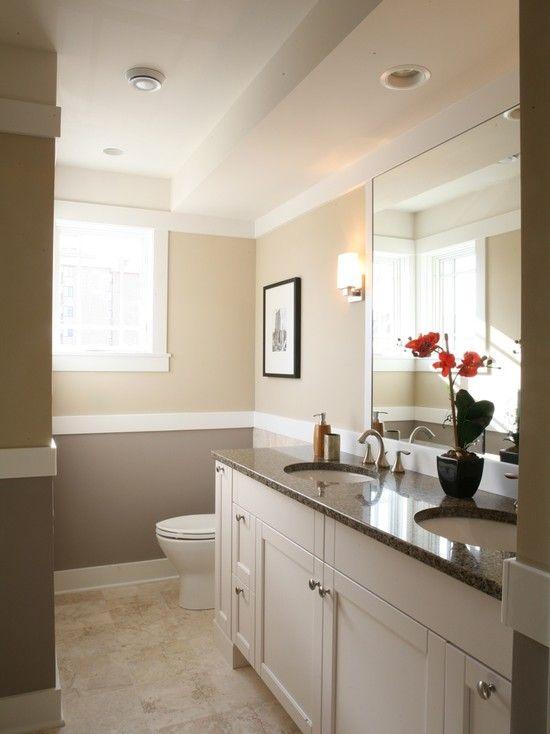 "Two Tone Bathroom Color Ideas bathroom design, pictures, remodel, decor and ideas - page ""half"