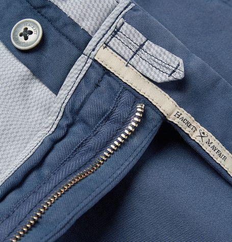 HackettMayfair Slim-Fit Cotton-Blend Twill Trousers