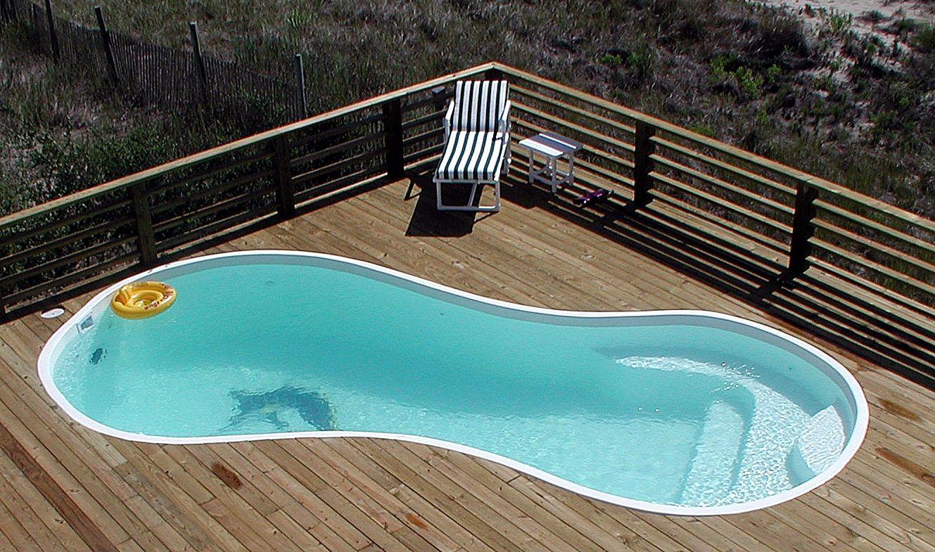 Swiming Pools Beautiful Backyard Fiberglass Pool Stone