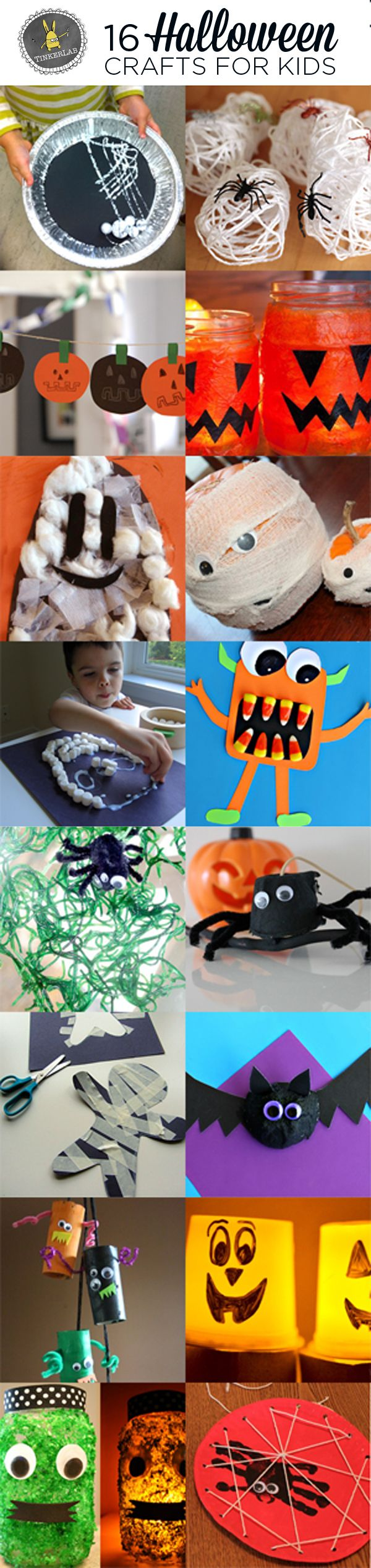 Here comes Halloween! I scoured some of my favorite kid-friendly sites and found this awesome selection of Halloween Crafts for Kids.