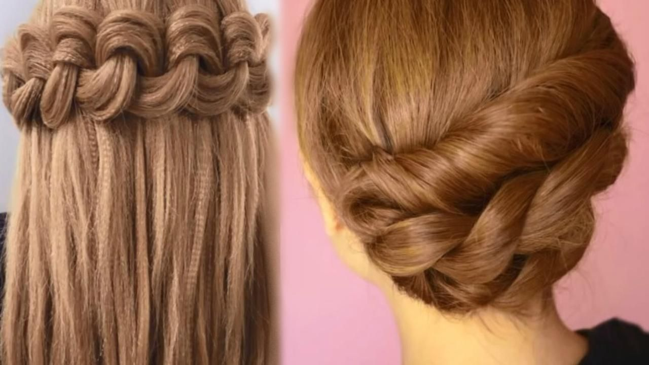 How To Do A Rose Bud Braid Bun Cute Hairstyles For Medium Long Hair Tutorial Video Dailymotion Easy Hairstyles Very Easy Hairstyles Braids For Short Hair