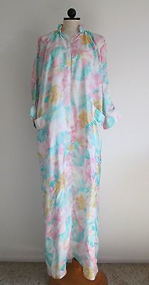 STELLA FAGIN Vintage Designer Lightweight Lounge Dressing Gown Housecoat Robe-S
