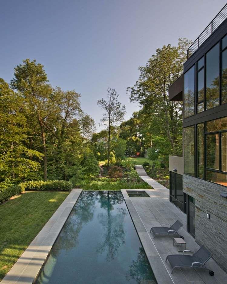 Aménagement jardin avec piscine: 75 idées pour s\'inspirer | Idées ...
