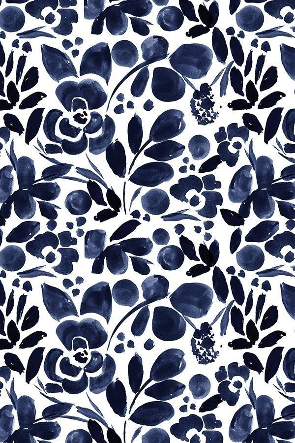 Navy Floral By Crystal Walen