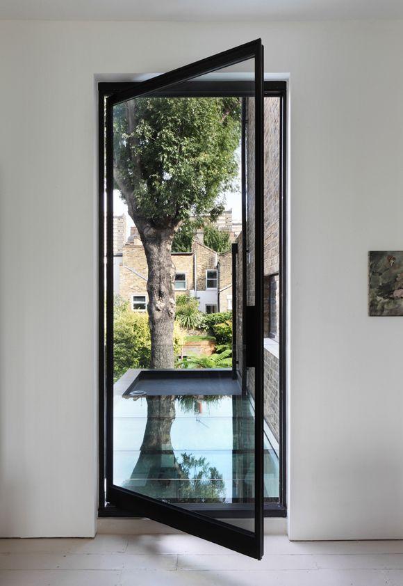 Metal frame door | Idées maison | Pinterest | Accesos, Aberturas y ...