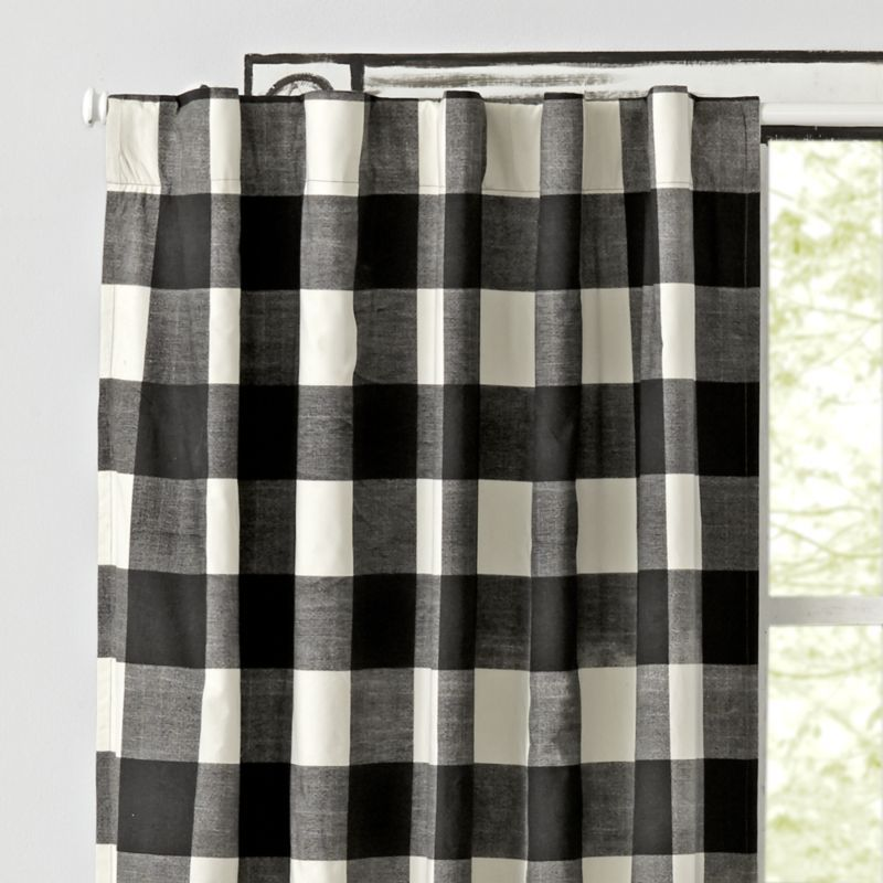 Black Buffalo Check 63 Blackout Curtain Reviews Crate And