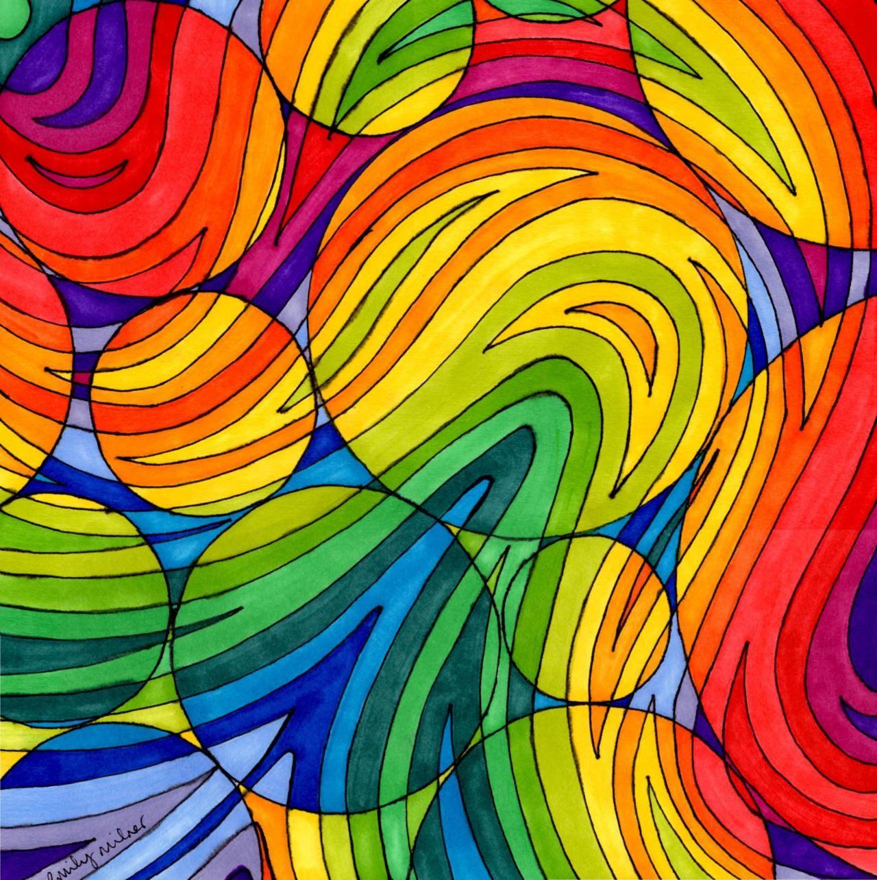 RAINBOWS!!! | Hot colors. | Pinterest | Rainbows, Art lessons and ...