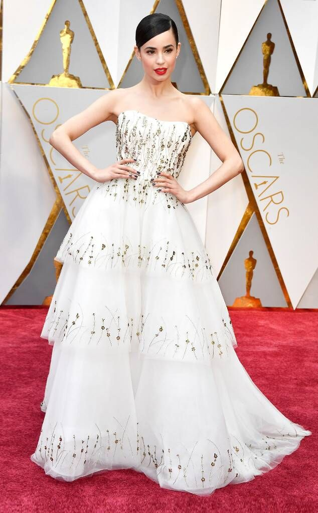 Sofia Carson from Oscars 2017 Red Carpet Arrivals