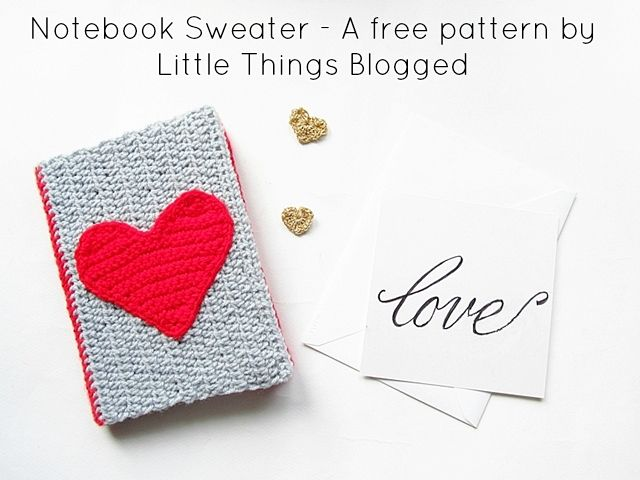 A cute crochet book cover for your book or notebooks. Pattern by Little Things Blogged.