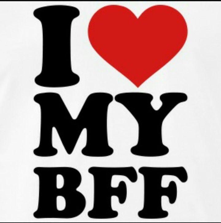 I Love My Best Friend Forever My Bff Simbolos De Amizade Desenhos Animados De Menina