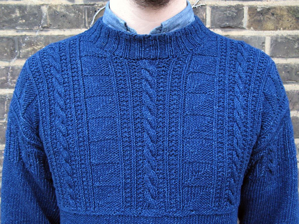 Gansey Sweater I KNIT SO I DONT KILL PEOPLE Pinterest Knitting pat...