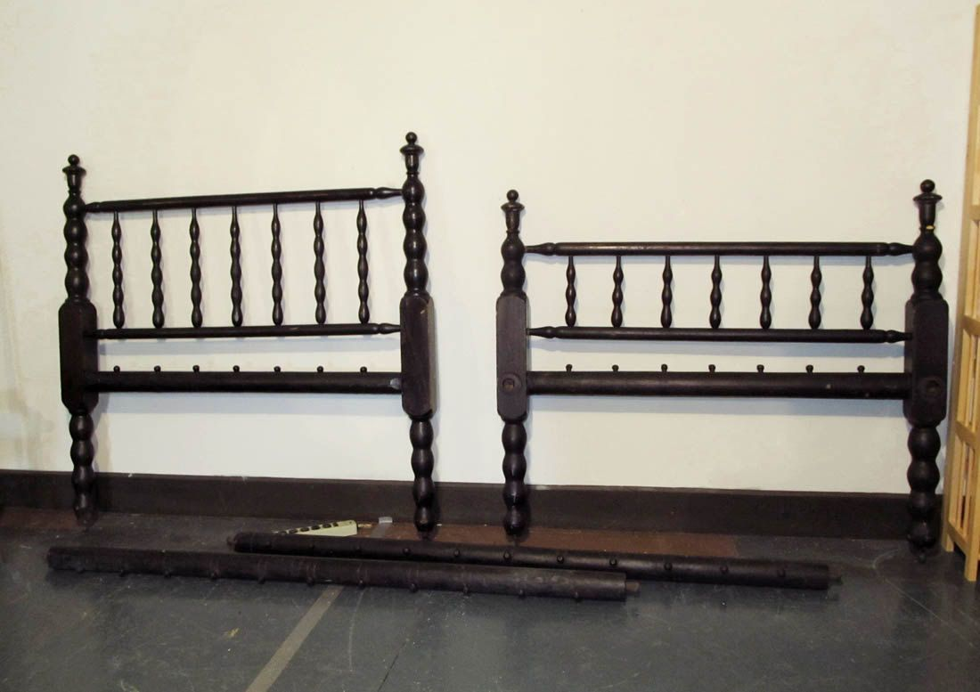 Antique Rope Bed Full Size Sacking Bed Headboard Footboard Sausage