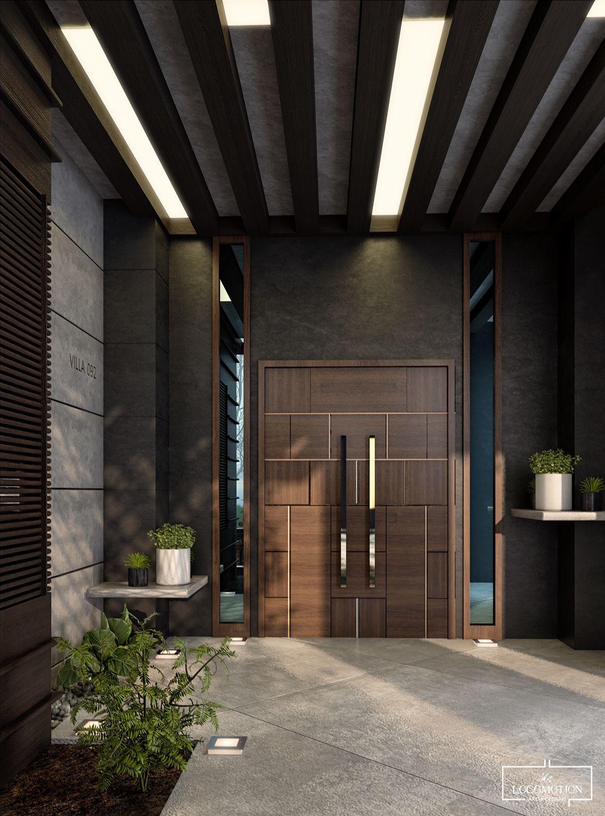 modern villa entrance on Behance | Modern entrance door ...