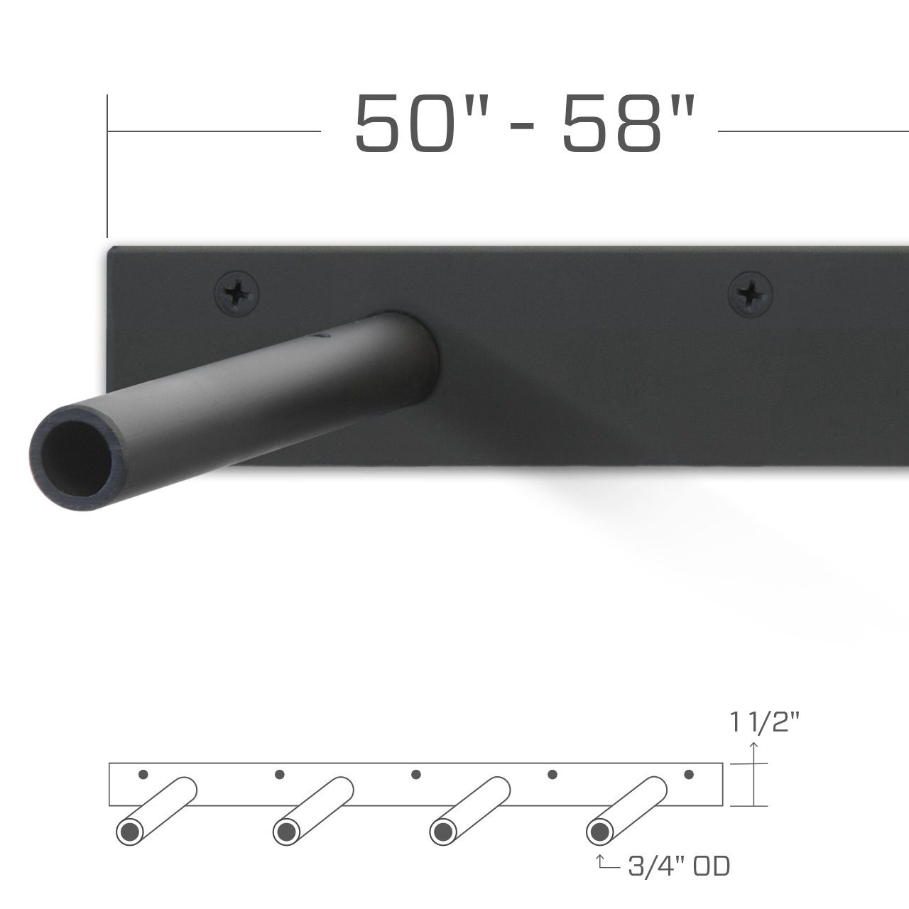 Heavy Duty Floating Shelf Bracket Detail Specifications Fits 51 Through 60 Inch Shelves