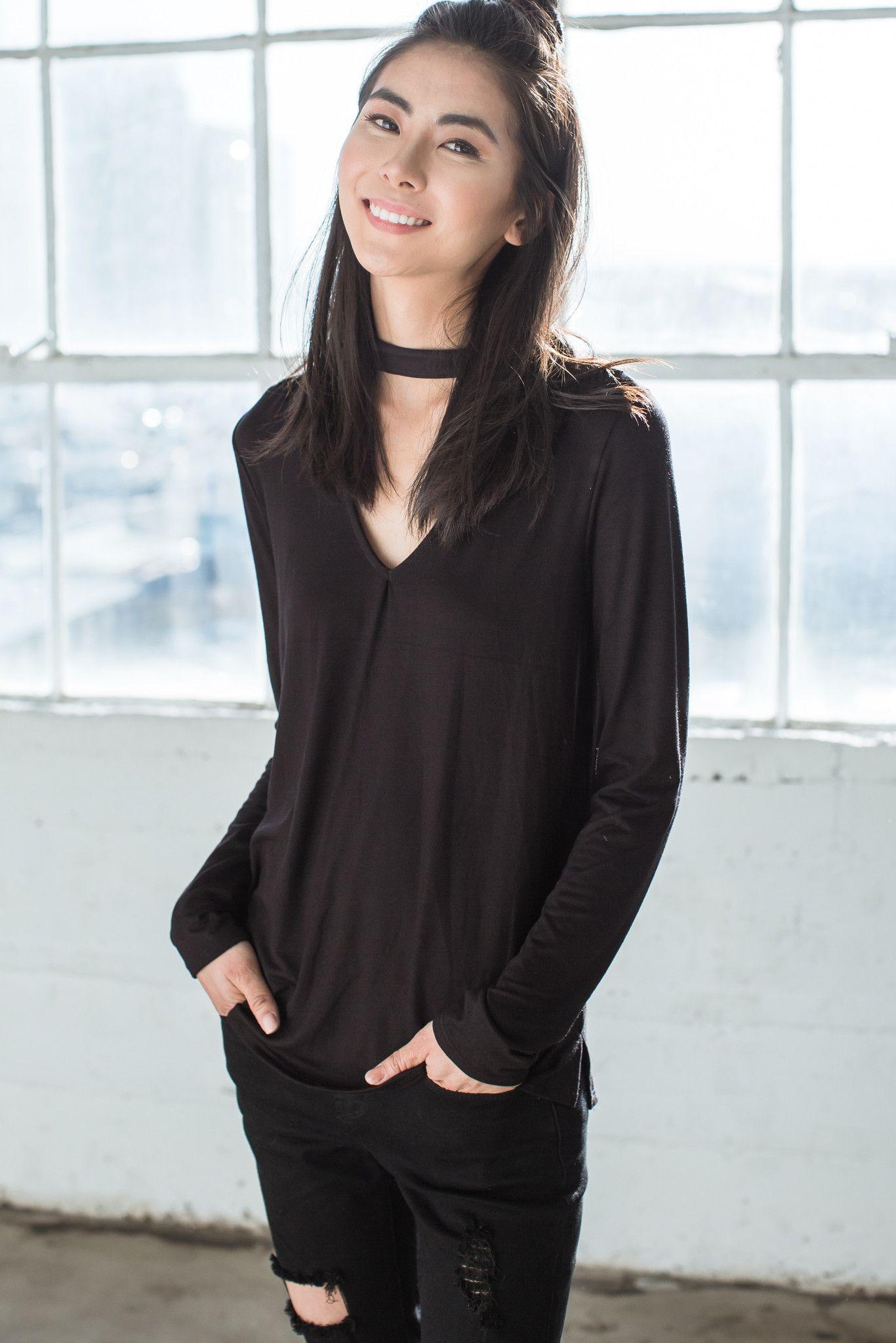 f0510fc0 Stella Long Sleeve Choker Tee - Black | Products | Choker tee ...