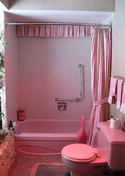 pink bathroom