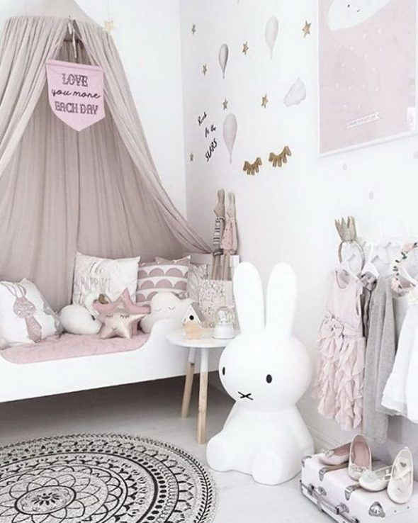 idée déco chambre de petite fille épurée et féerique ! | Déco ...
