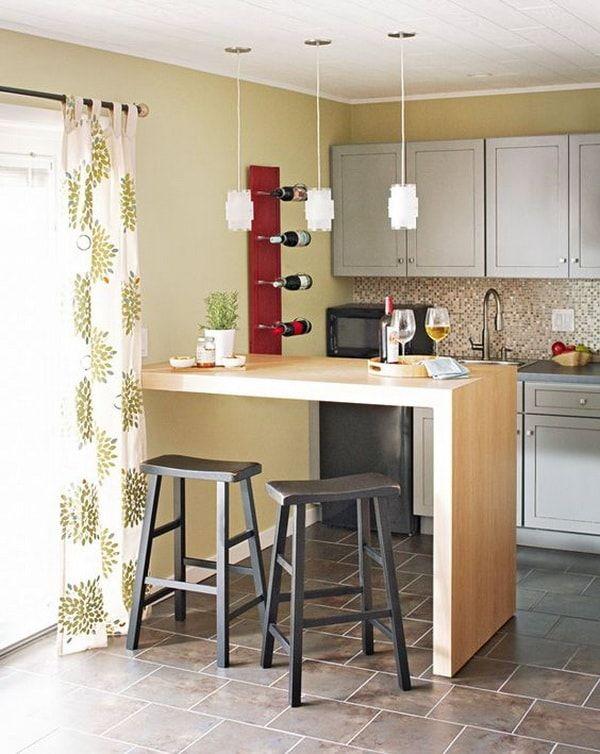 Barras de cocina ideas de muebles funcionales para for Cocinas americanas cerradas