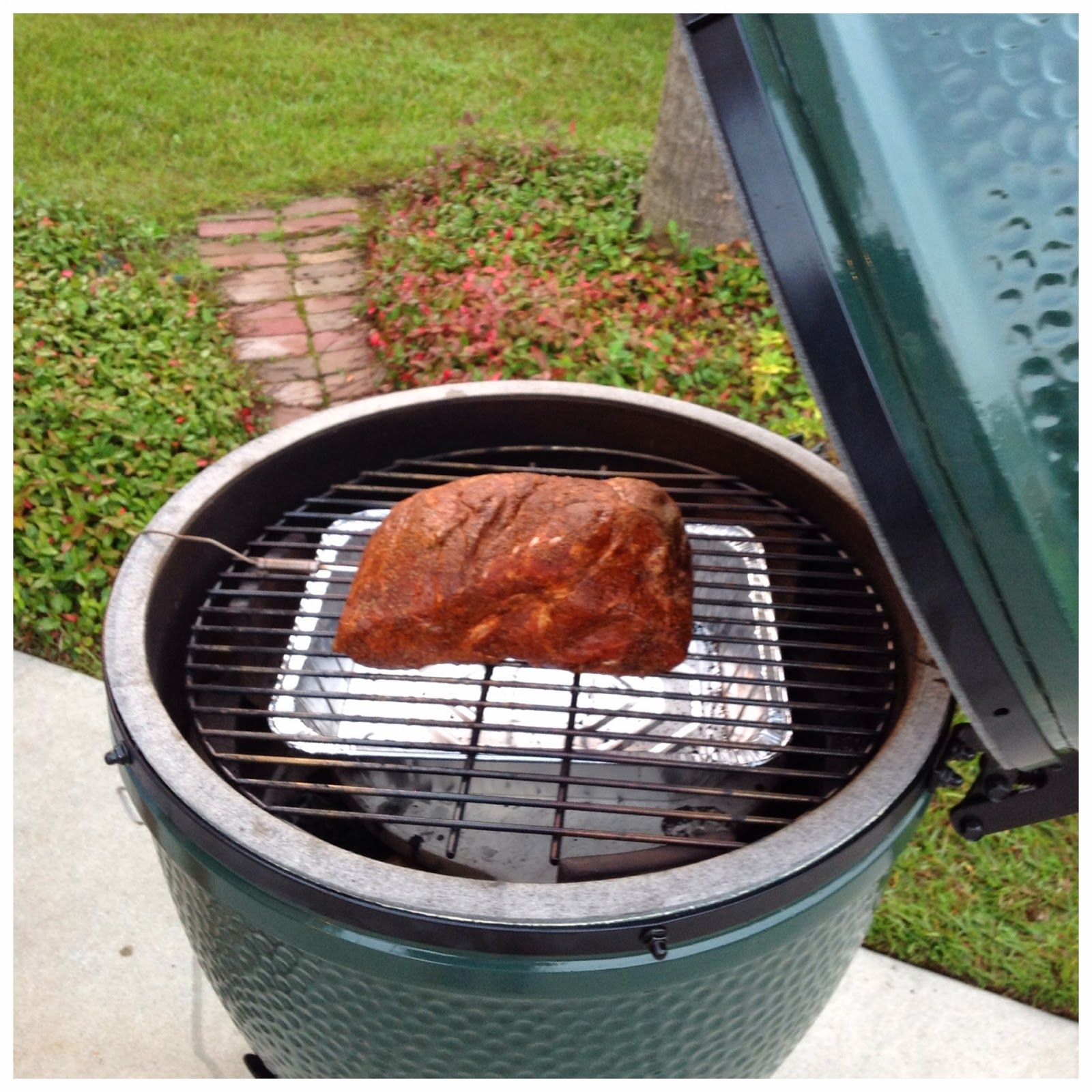 Big Green Egg: Slow Cooked, Juicy Boston Butt  The Lowcountry Lady
