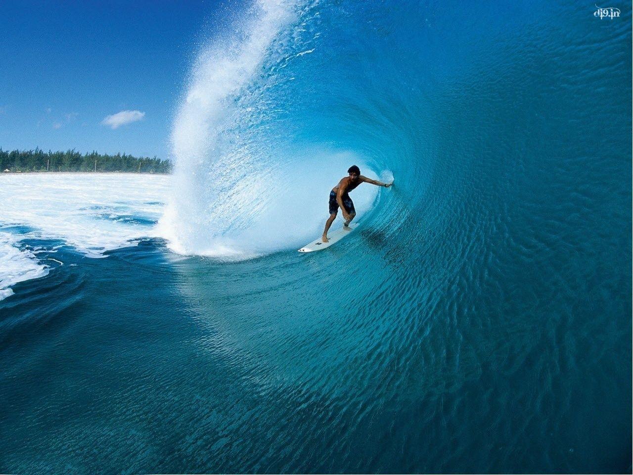 壁紙画像 サーファー Surfer ビックウェーブ 海と波とサーフィン
