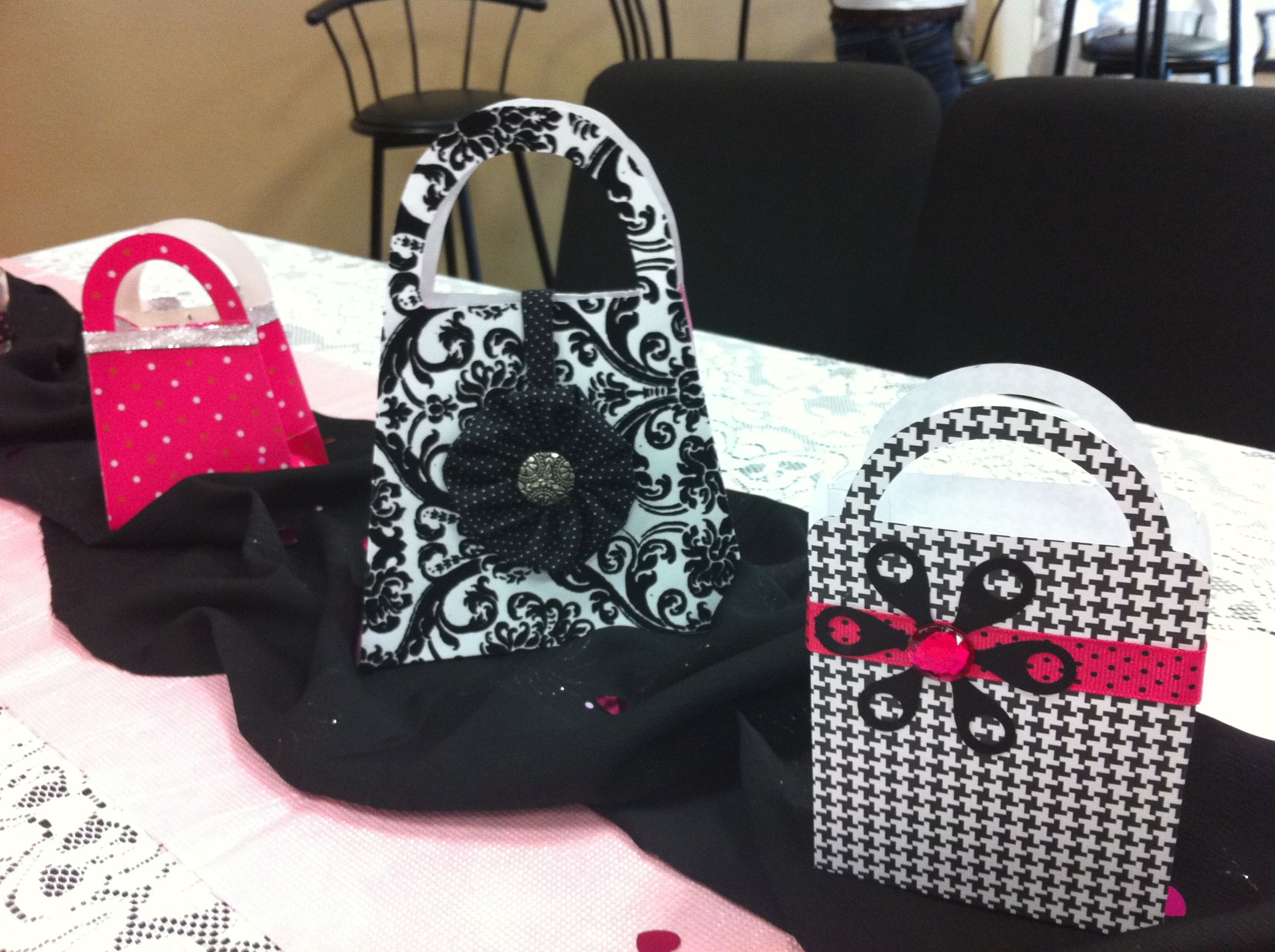 bad09ee766 Purse Gift Bags (used as centerpieces)