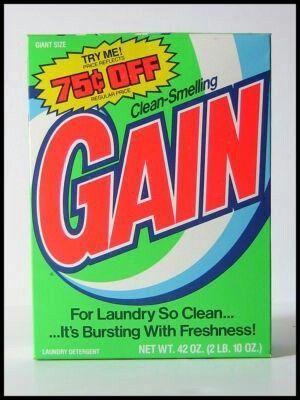 Clean Smelling Gain Detergent 1980s Vintage Packaging Vintage