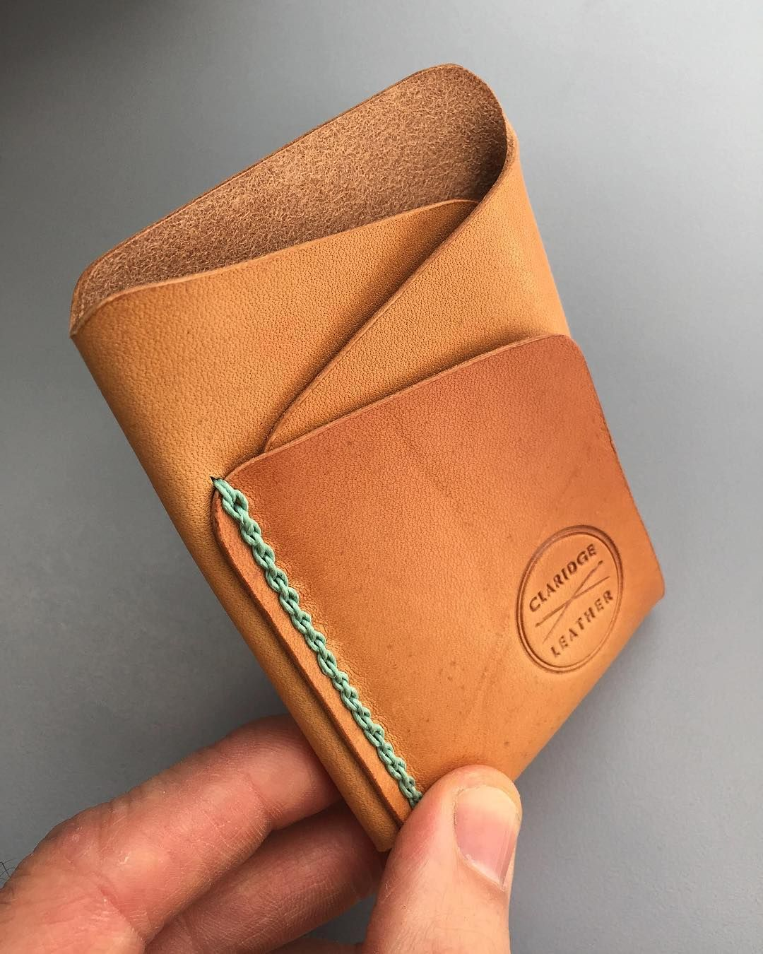 """Claridge Leather on Instagram: """"Join me live TONIGHT (Nov. 13) for some wallet stitching at about 9:30 PM MST. If you have wondered how this type of stitch is done,…"""" #leatherwallets"""