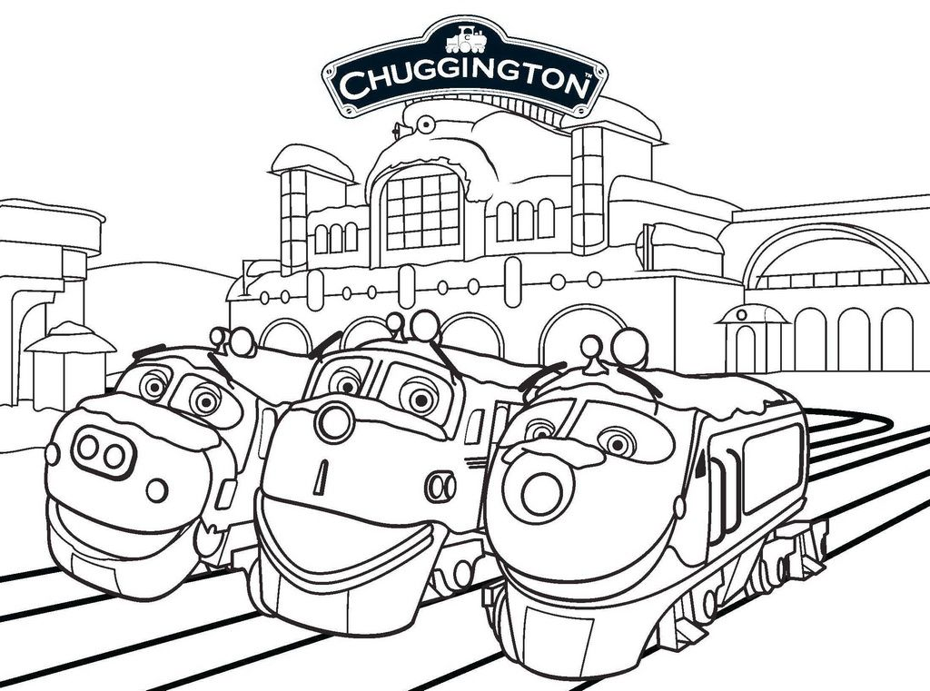 Pin Oleh Illustration Designer Di Chuggington Coloring Pages