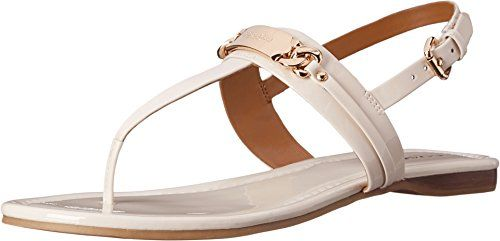2430276fe21cf Coach Caterine Women Open Toe Patent Leather Thong Sandal    Click image to  review more details.