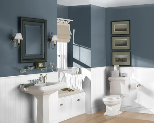 Sherwin Williams Paint Colors For Laundry Room Paint Color Sea Serpent Sherwin Williams Ma Small Bathroom Colors Small Bathroom Paint Bathroom Color Schemes