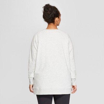 9bdd8974758f1 Women s Plus Size Authentic Fleece Sweatshirt Pullover - C9 Champion Heather  Gray 3X