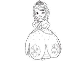 Disney Junior Print And Colour Sofia The First Coloring Pages