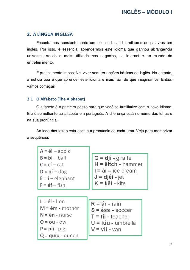 APOSTILAS DE INGLES EBOOK DOWNLOAD